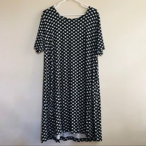 Loft Plus Black Print Swing Dress